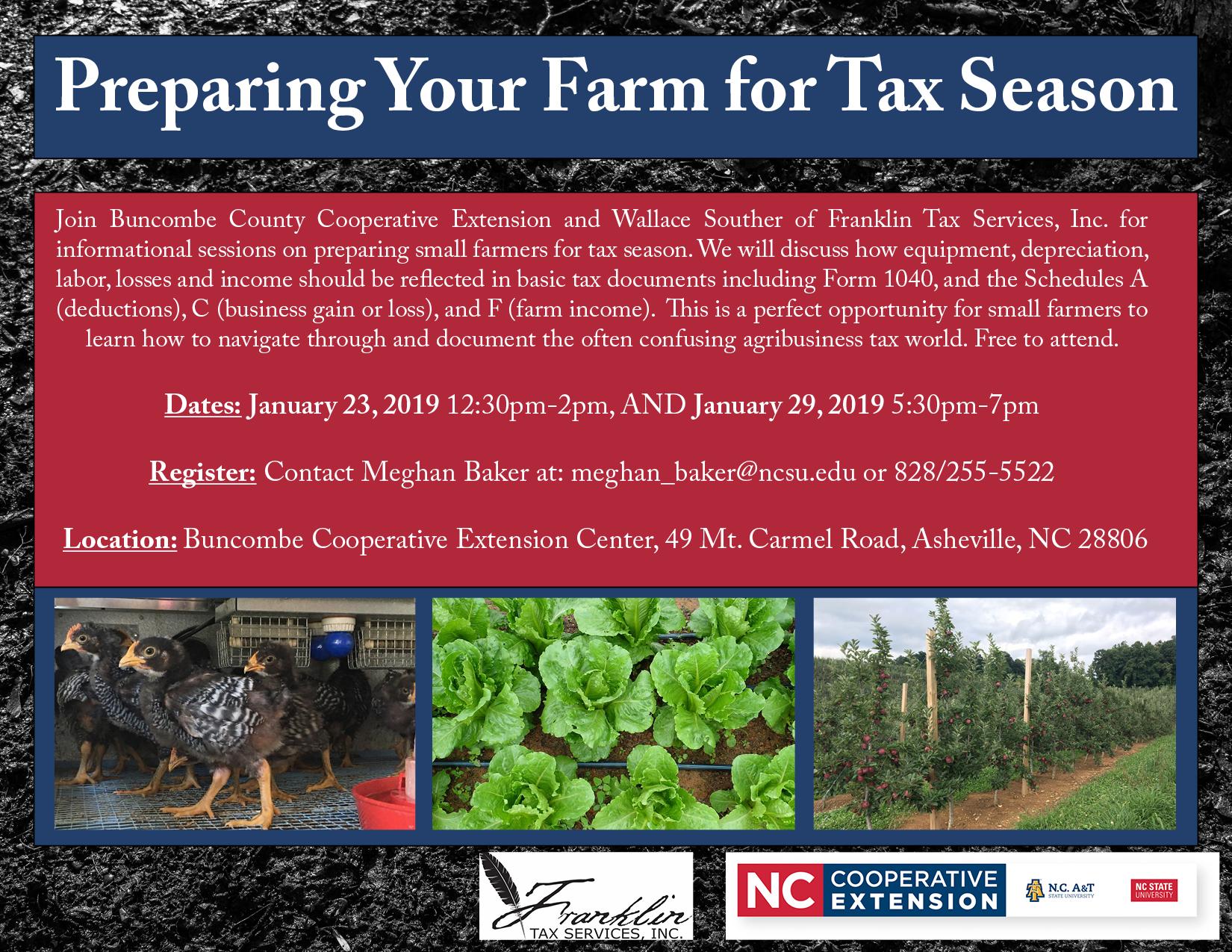 Tax workshop flyer image
