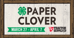 TSC Paper Clover Fundraiser Poster
