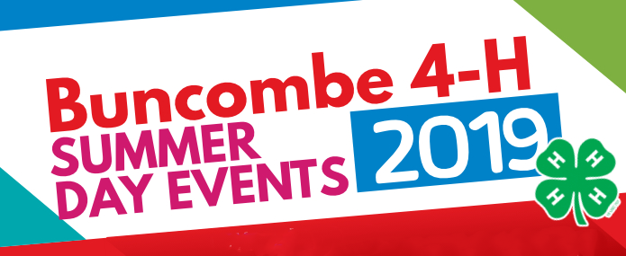 Buncombe 4H Summer Day Events Header