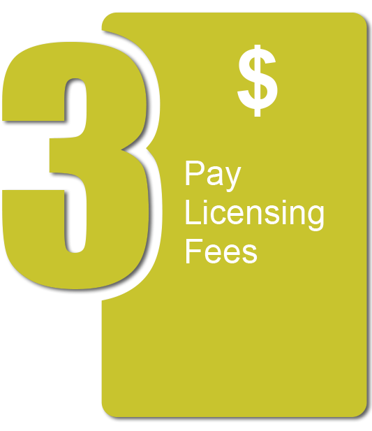 Pay Licensing Fees
