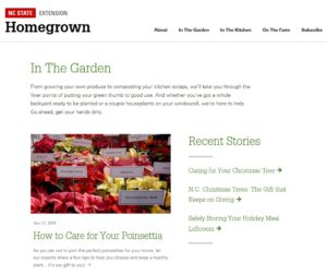 Screen Shot of HomeGrown Garden Site