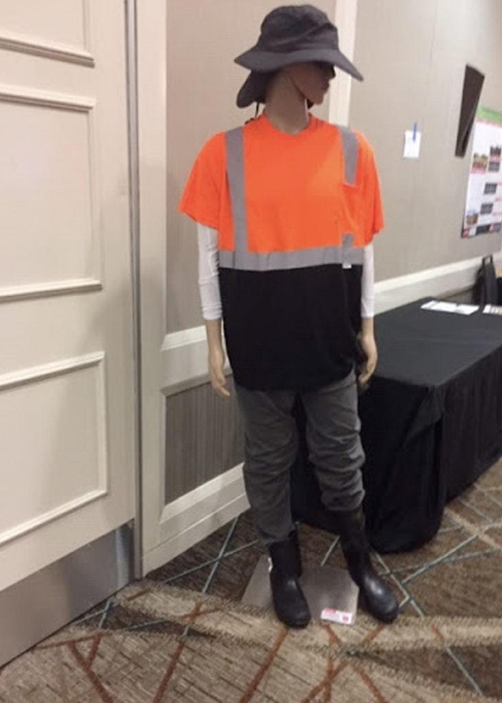 Manikin wearing PPE