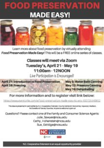 Cover photo for Food Preservation Made Easy:  Pressure Canning on May 12th