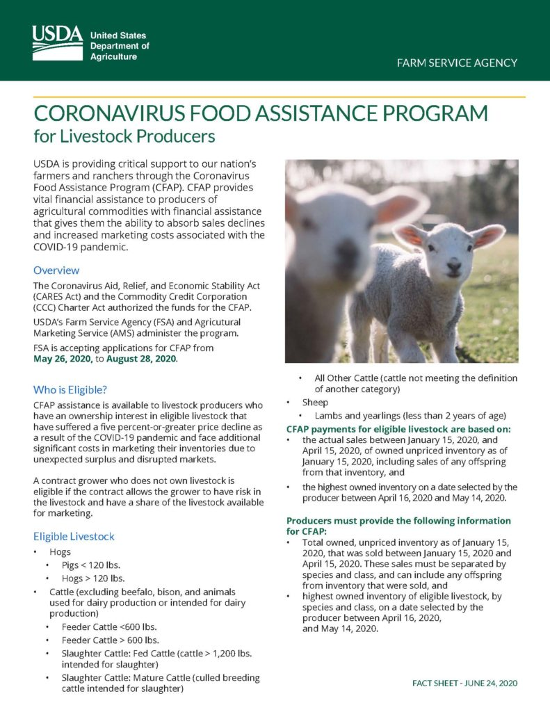 Corona Virus Food Assistance Program