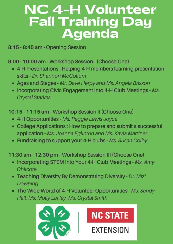 Volunteer training agenda